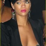 Rihanna sexy topless