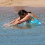 Roberta Capua in mare