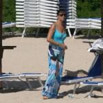 Roberta Capua in vacanza con marito e figli